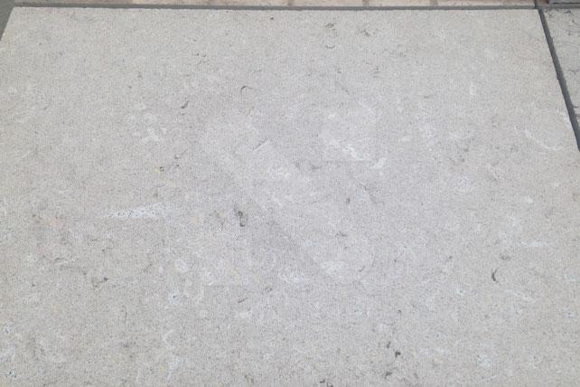 New Valverde grey limestone sandblasted